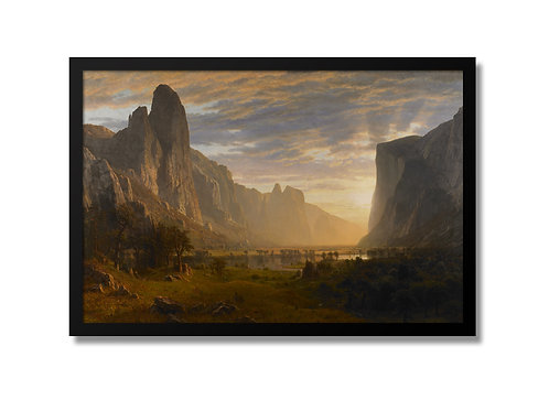 "Framed Canvas Print of ""Looking Down Yosemite Valley"" (no glass)"
