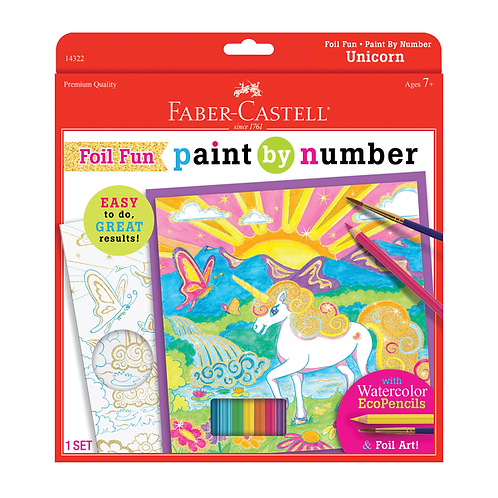 Paint By Number Kits - Unicorn Foil Fun