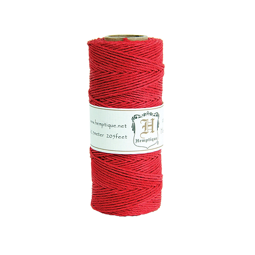Hemptique Hemp Cord Spool - 10 lb. Red