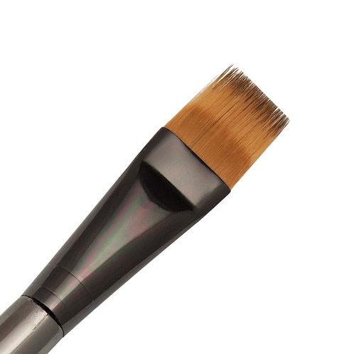 "Zen Series 73 Synthetic All Media Short Handle Brush - Flat Comb 3/4"""