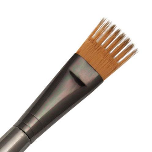 "Zen Series 73 Synthetic All Media Short Handle Brush - Flat Wisp 3/4"""