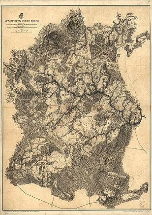 Mysite Civil War Maps - Appomattox us map