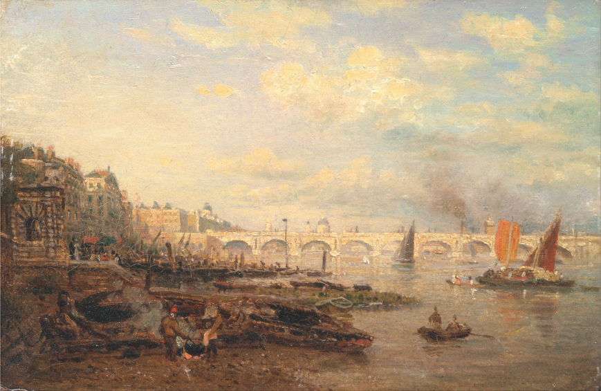The Thames and Waterloo Bridge