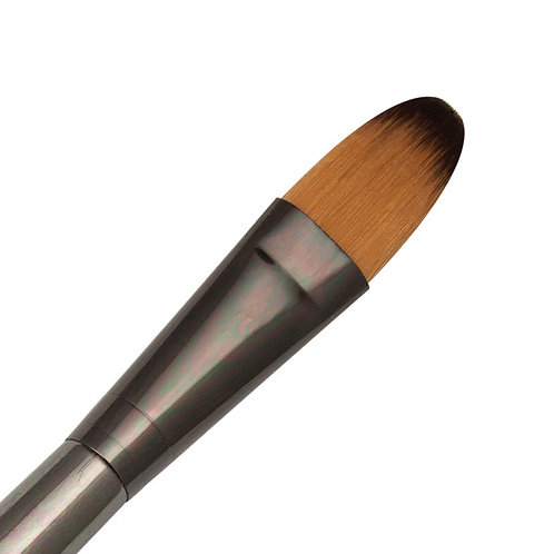 """Zen Series 73 Synthetic All Media Short Handle Brush - Oval Wash 3/4"""""""