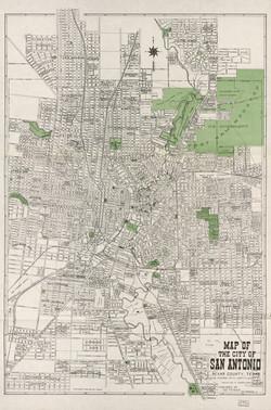 Map of San Antonio, TX