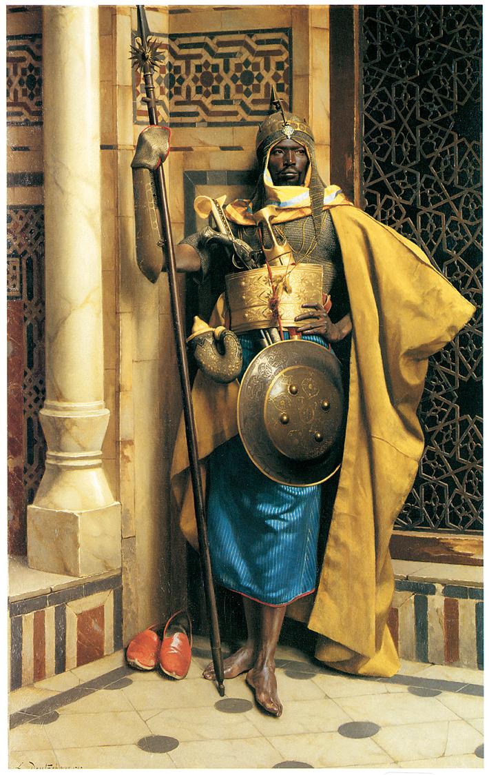 African Warrior in Armor