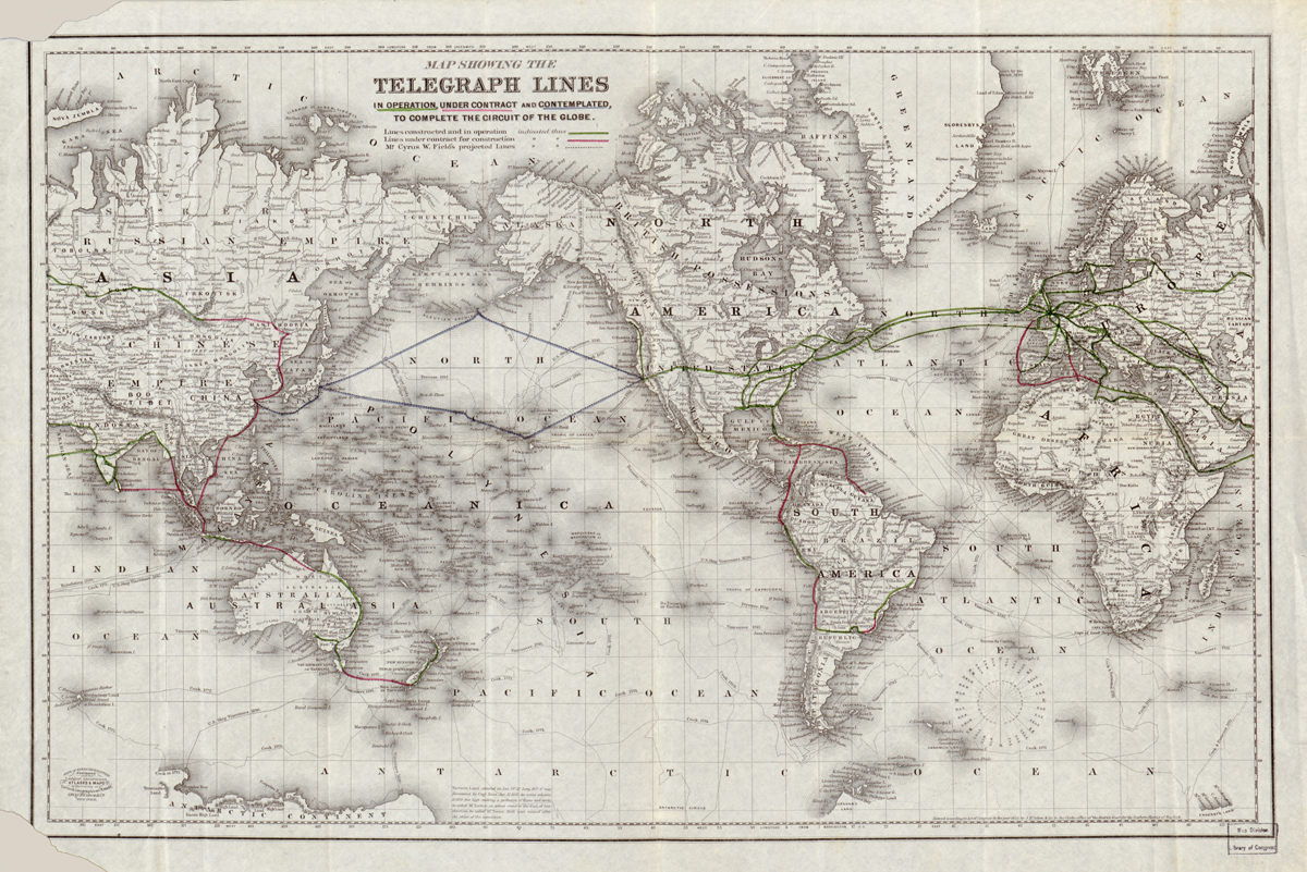 World Telegraph Map