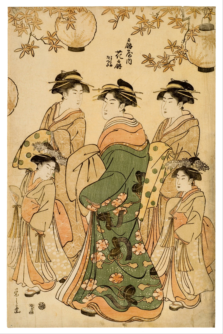 Woodcut Group of Women