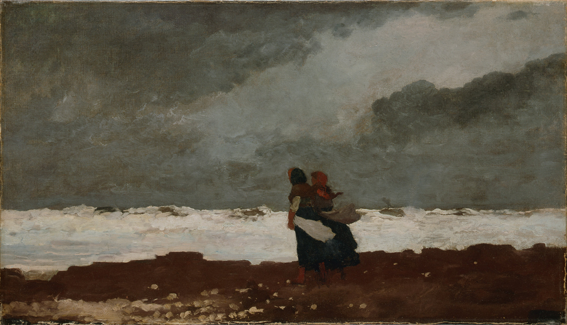 Two Figures by the Sea