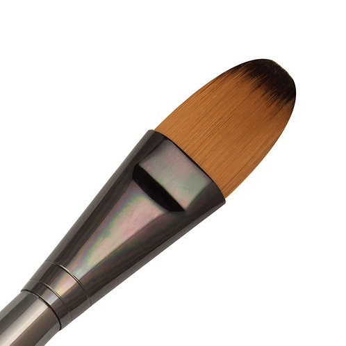 Zen Series 73 Synthetic All Media Short Handle Brush - Oval Wash 1""