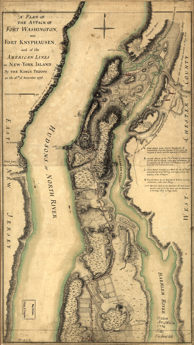 Fort Washington Attack Map