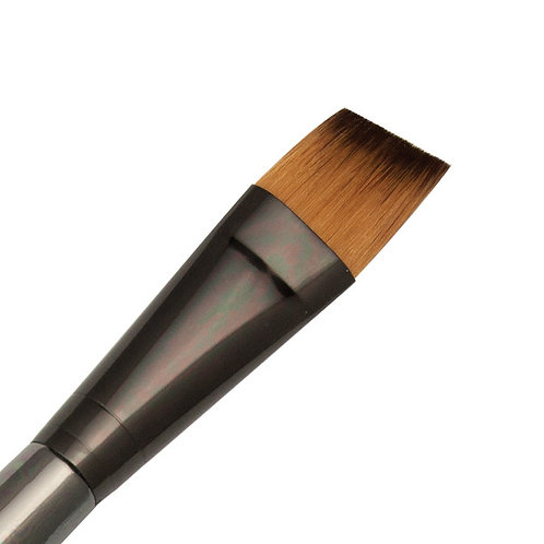 Zen Series 73 Synthetic All Media Short Handle Brush - Angle Shader 3/4