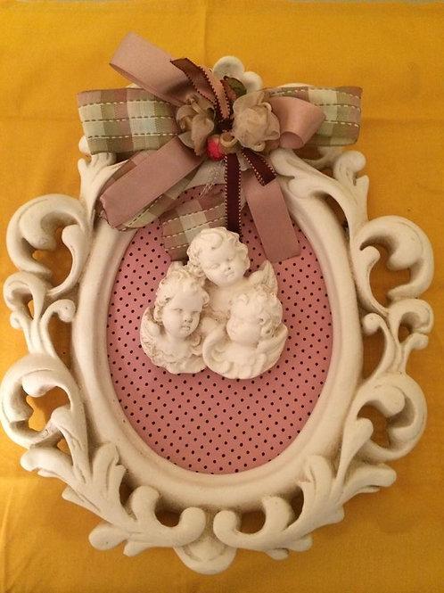 quadro anjo de ceramica