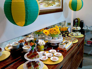 Café da manhã com sabor verde e amarelo