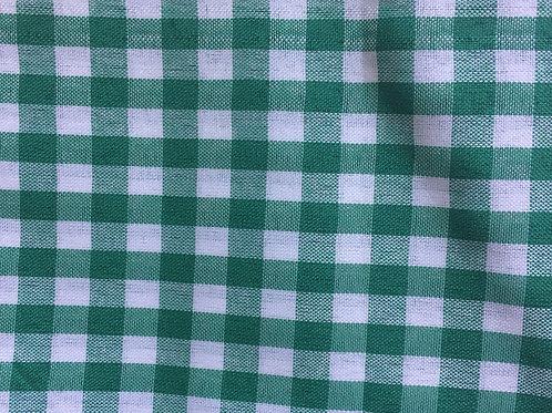 Toalha xadrez verde e branco pequena