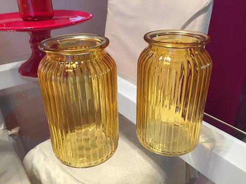 vaso retro amarelo medio
