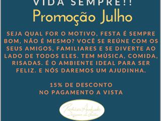 Promoção Festas Julho 2019