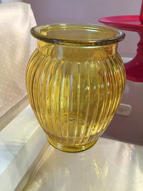 vaso retro bojudo amarelo medio