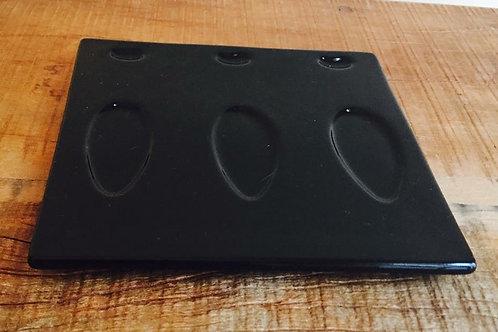suporte de doces preto quadrado 0,15x0,15