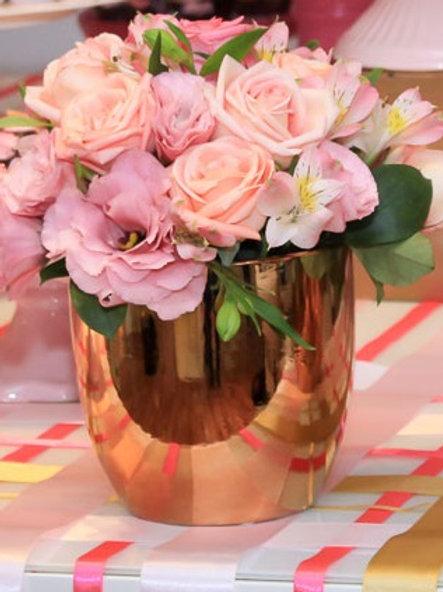 vaso mesa de convidados dourado