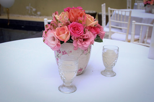vaso mesa de convidados rosa