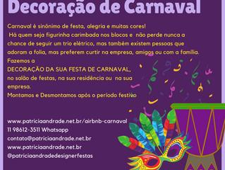 DECORAÇÃO DE CARNAVAL NA SUA EMPRESA