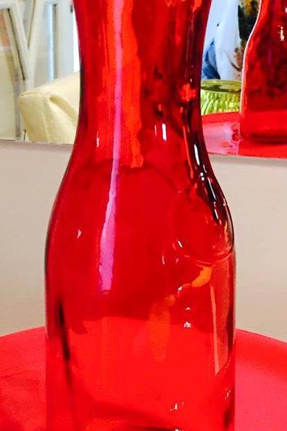 vaso grande vermelho medio