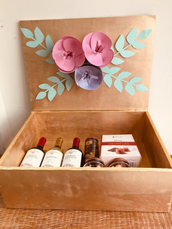 caixa de vinhos