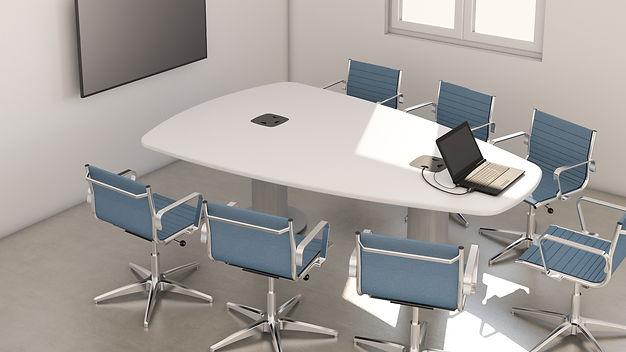 Hengerlábas tárgyaló asztal
