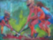 Clash, pastel, 11x14,W.jpg