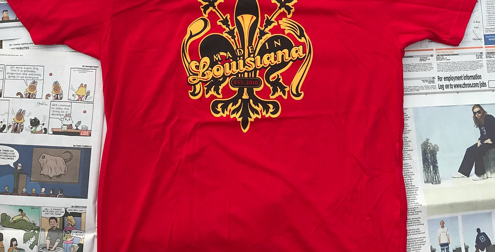 Made in Louisiana Crawfish Red Festival Tee
