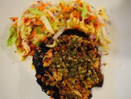Tempeh Stuffed Portabella Mushroom