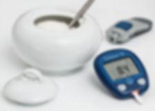 sugar bowl with glucose tester