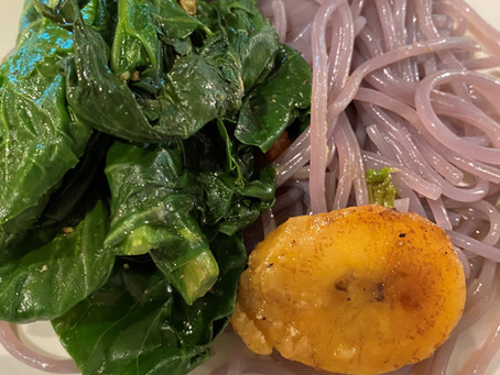 Sweet Potato Pasta & Veggies