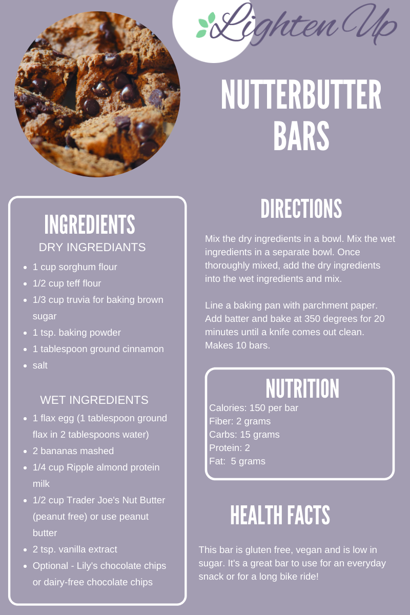 Recipe card for Nutterbutter Bar Cookies