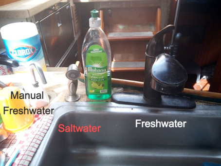 Galley Tips! Water, sinks, and dishes...oh my