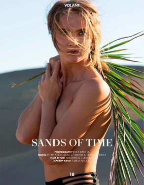 VOLANT Magazine Editorial: Sands of Time  Model: Stine Neergaard Agency: MasQmoda Canarias / Trend Models Oslo MUA: Tamaz Szigeti Hair: Frederick Cleverly