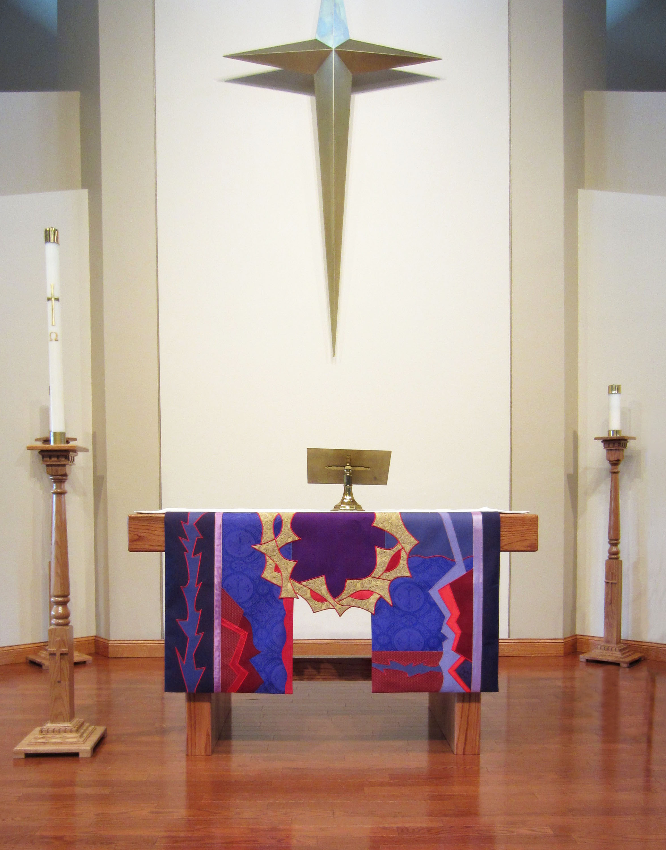 Lenten altar parament - The Bridge