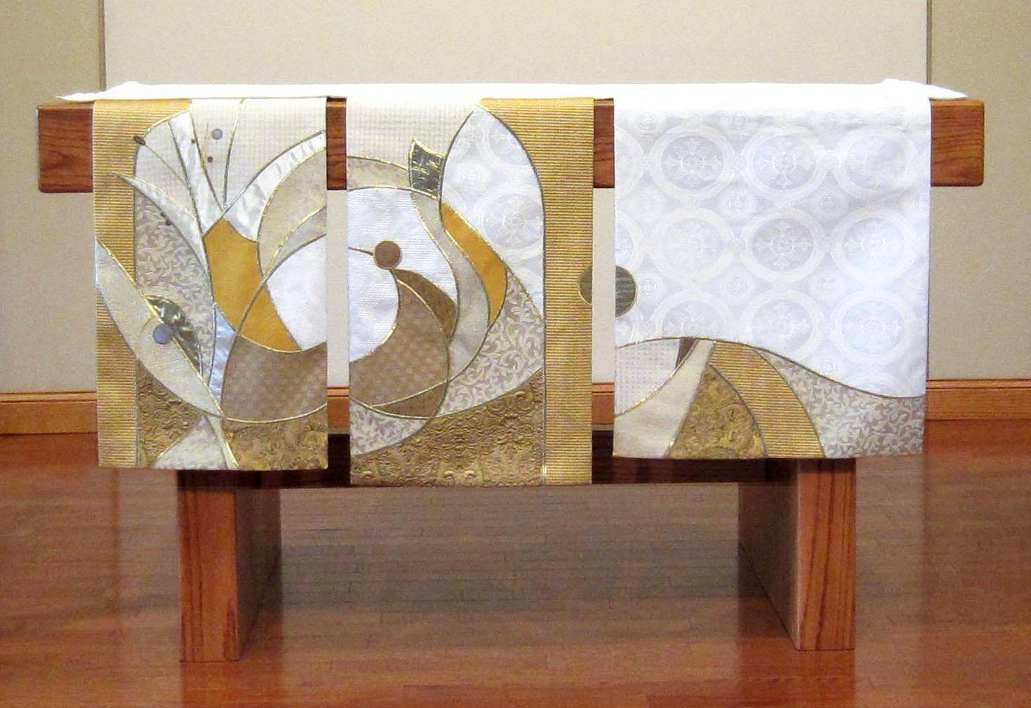 White season 3 panel altar frontal