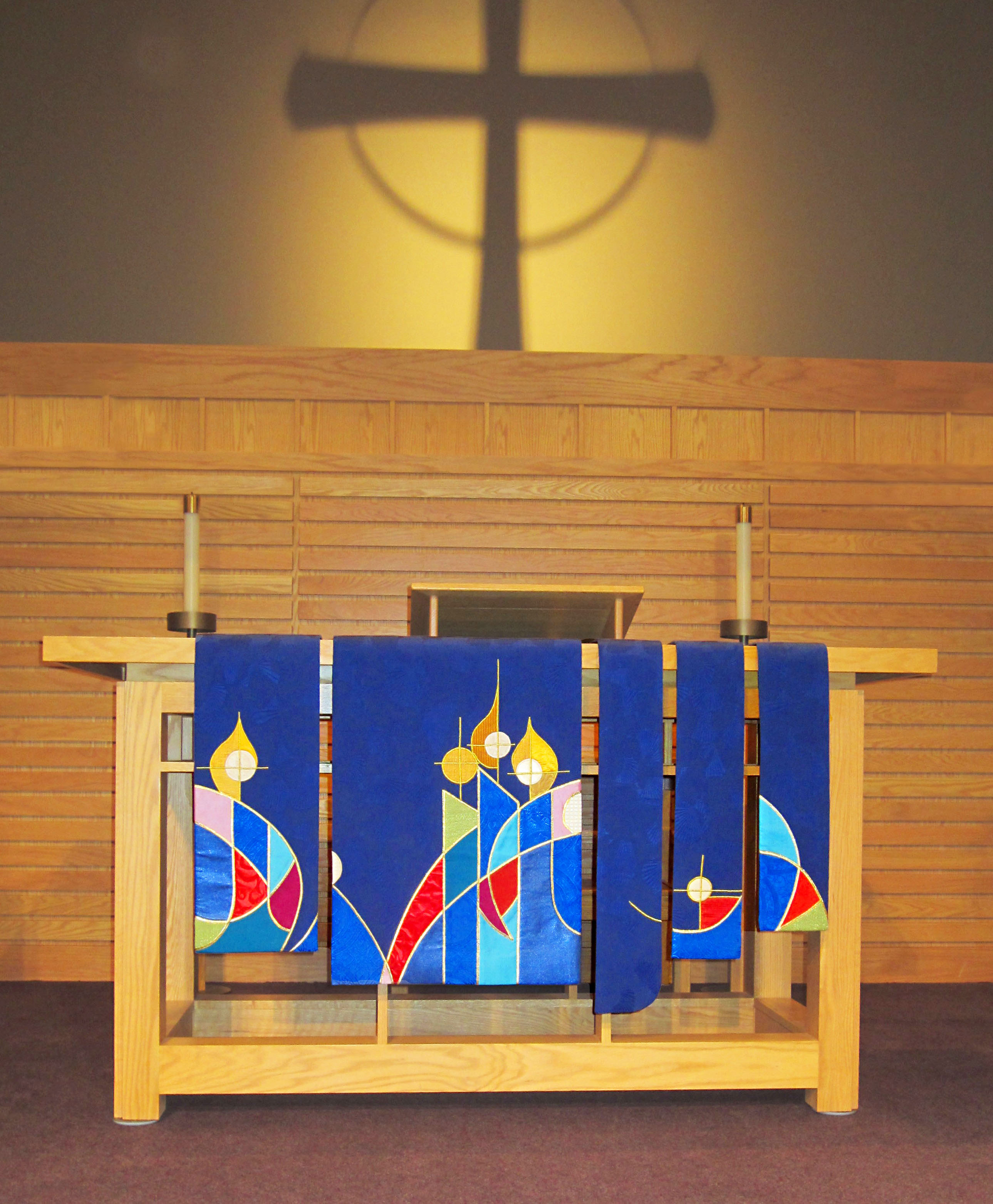 Advent altar frontal - The Light
