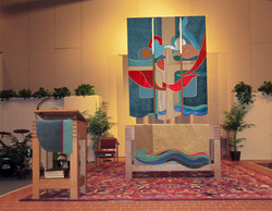 Triptych banner and paraments
