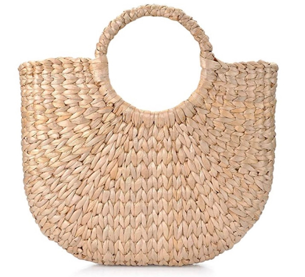 First up: Straw tote bag.  One of our friday favorites.