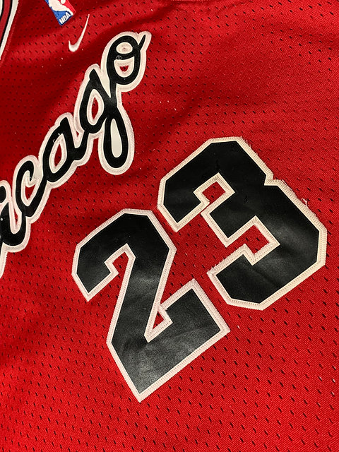 best authentic d7ba1 ae142 Flight 8403 Chicago Bulls Michael Jordan Rookie Jersey (Lg)