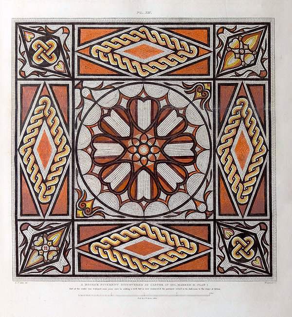 Roman Pavement From Castor - Artis - NVAT