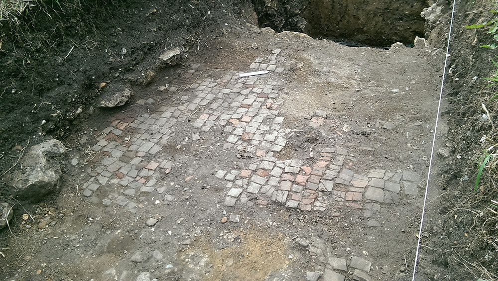 Roman tessellated pavement at Durobrivae