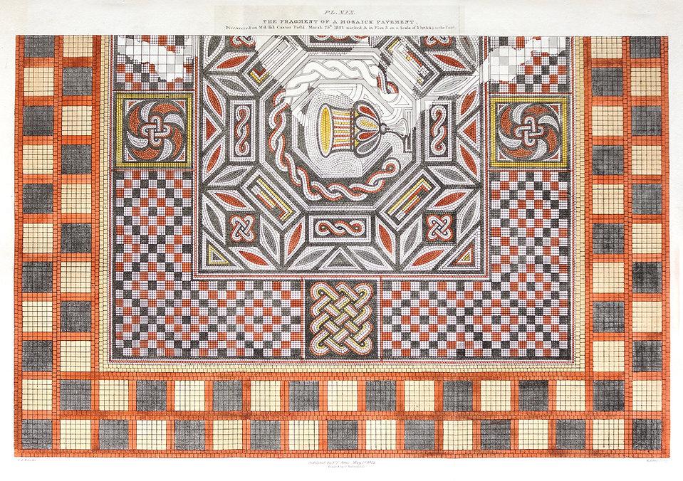 Roman tessellated pavement - Artis - Nene Valley Archaeological Trust