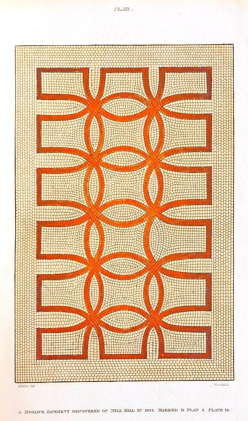Roman tessellated pavement - Castor - Artis - NVAT