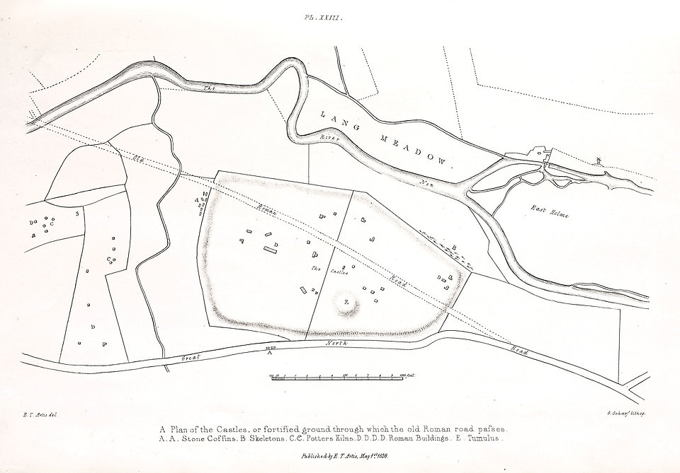 Artis Plan of the Castles - Durobrivae - Nene Valley Archaeological Trust