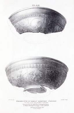P52.Fragments of Roman earthenware vesse