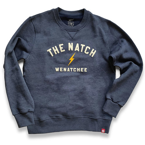 The Natch Stitch Crew - MEN'S Blue Heather